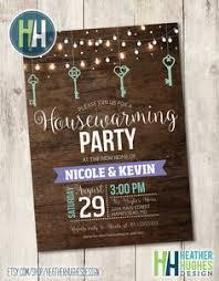 Printable Housewarming Invitation Rustic Wood Party Invite Hanging Lights And Keys Teal Purple