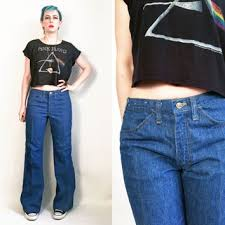 70s Clothes Lee Jeans 1970s Vintage Pants Mens Denim Disco US