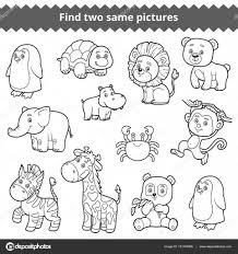 Imágenes Zoologico Para Pintar Conjunto De Animales De Zoológico