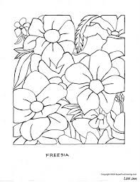 Summer Flowers Printable Coloring Pages Inside