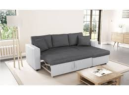 canapé gris et blanc pas cher canapé d angle réversible et convertible avec coffre gris