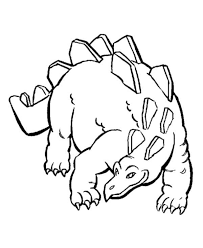 The Sturdy Stegosaurus In Dinosaur Coloring Page