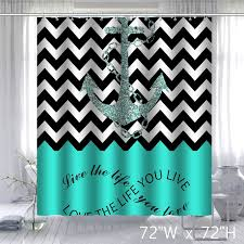 Infinity Live The Life You Love Chevron Pattern with Nautical