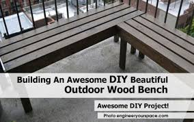bench building an awesome diy beautiful outdoor wood bench