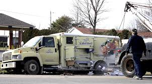 """Driver Takes A """"Schwan"""" Dive 