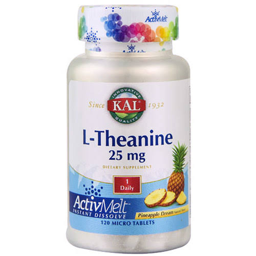 KAL L-Theanine - Pineapple Dream, 25 mg, 120 micro tablets