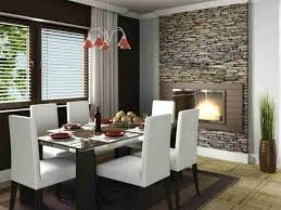 Beautiful Stone Wall Tiles Fireplace For Dining Room