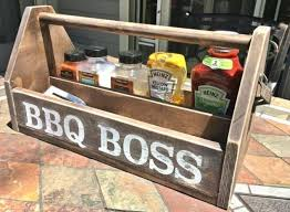 Diy Wood Bbq Caddy Crafts How To Storage Ideas Woodworking Projects