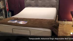 Temperpedic Adjustable Bed by Tempur Pedic Advanced Ergo System Mattress Youtube