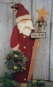 Old Fashion Santa Yard Wood Decoration Diy Christmas ArtChristmas HomeRustic