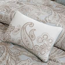 Nicole Miller Paisley Throw Pillows by Amazon Com Madison Park Pure Mpp12 019 5 Piece Ronan Cotton Duvet