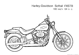 Free Motorcycle Coloring Page Letscoloringpages Harley Davidson Softail