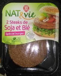 cuisine et vie steak spécial burger soja et blé nat vie