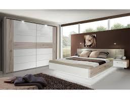 schlafzimmer rubio 20a sandeiche weiß hochglanz bett nako schrank led expendio