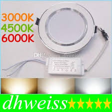 9w 12w 15w 18w 20w adjustable color temperature led downlights