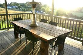 Wooden Patio Table Faux Wood Furniture Chair Outdoor Tables