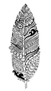 Get the coloring page Feather