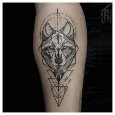 Geometric Wolf Tattoo Sketchy Bear Tattoos Animal Tatoos Calf Tiger Art