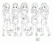 Printable Lego Friends Girls Coloring Pages