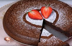 nutellakuchen mit mit 2 zutaten sieht gut aus und schmeckt himmlisch