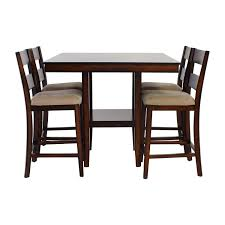 Macys Glass Dining Room Table by 73 Off Macy U0027s Macy U0027s Branton Counter Height Table With Chairs