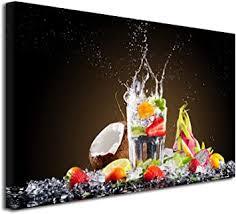 dekoration für küche tafel deko wandbild wandbild dekoration küche cocktail obst 50 x 30 cm mehrfarbig leinen mehrfarbig 50x30 cm
