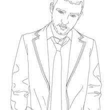Justin Timberlake Coloring Pages