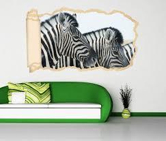 3d wandtattoo tapete zebra zebras kopf afrika tier durchbruch selbstklebend wandbild wandsticker wohnzimmer wand aufkleber 11o1983 wandtattoos und