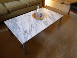 crafted marble or granite coffee tables by harvest home steel
