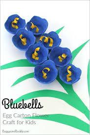 Egg Carton Crafts For Kids Bluebells Flower Craft Of