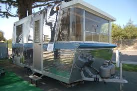 Photo Of Vintage 1960 Holiday House Travel Trailer At Trail Along To Pismo Rally