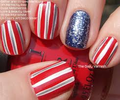 100 Nail Art 2011 Glitter And Stripes The Daily Varnish