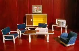 living room of modella dolls house doll house television tv