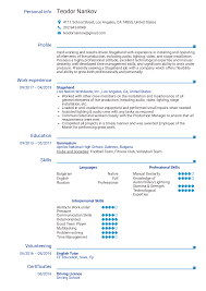 Resume Examples By Real People: Stagehand Resume Sample ... Freetouse Online Resume Builder By Livecareer Awesome Live Careers Atclgrain Sample Caregiver Lcazuelasphilly Unique Livecareer Cover Letter Nanny Writing Guide 12 Mplate Samples Pdf View 30 Samples Of Rumes Industry Experience Level Test Analyst And Templates Visualcv Examples Real People Stagehand New One Page Leave Latter Music Cormac Bluestone Dear Sam Nolan Branding