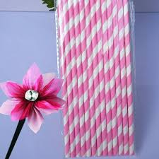 25Pcs Paper Straws For Birthday Wedding Decoration Party Supply Creative Drinking Straw