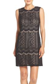 adrianna papell lace a line dress nordstrom rack