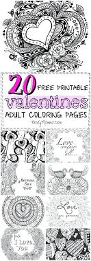 Free Coloring Pages For Adults Love Printable Heart Adult Valentine