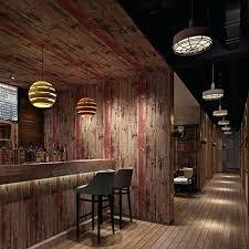 Old Bedroom Background Retro Striped Wall Sticker Wood Pattern Waterproof Wallpaper For Bar