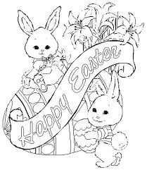 Printable Coloring Pages Easter Bunny Unique Spring Holiday Adult Great For Adults Page