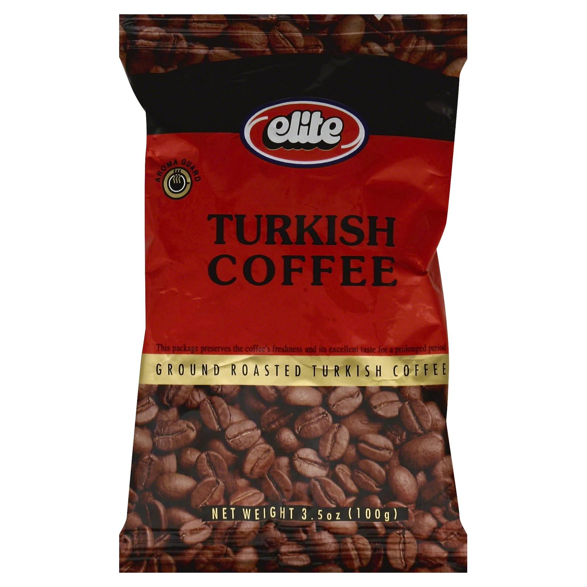 Elite Turkish Ground Roasted Coffee Bag - 3.5oz
