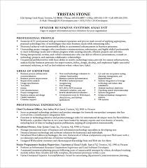 Systems Analyst Resume Example Coverletters For System Business Examples Template