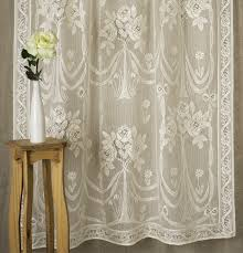 Fabric For Curtains Uk by French Lace Curtains Modern Simple Plaid Lace Sheer Curtain For