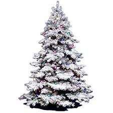 Vickerman 3Ft Flocked Alaskan Unlite White On Green Christmas Tree W 116 Tip
