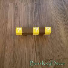 Pink Chevron Dresser Knobs by Custom Mario Brick Block Pull Handle Super Mario Bros Nintendo