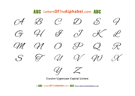 Letters The Alphabet In Cursive Uppercase Lowercase PDF