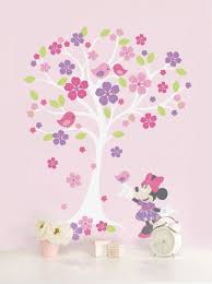 Wall Mural Decals Amazon by Amazon Com Disney Baby Minnie Mouse Love Blossoms Baby Wall