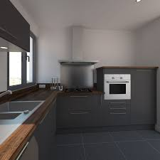 cuisine grise plan de travail bois idée relooking cuisine cuisine grise et moderne