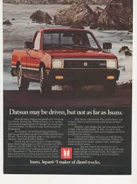 100 Diesel Small Truck 1982 Advertisement Isuzu Pickup Compact Etsy