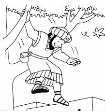 Coloring Pages Zacchaeus Tree