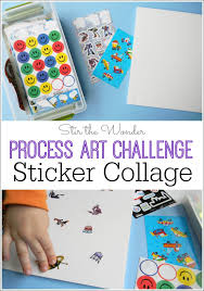 An Easy Way For Kids To Explore Process Art With Collage Is By Using Stickers
